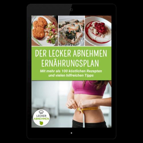 Ernährungsplan auf Smartphone