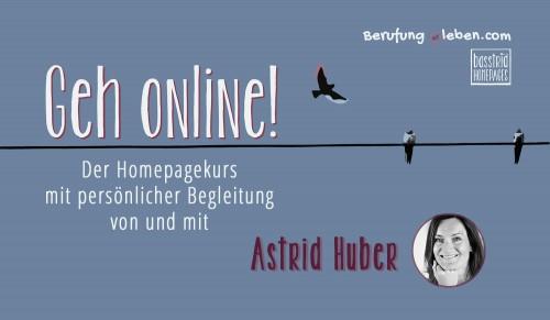 Geh online Homepagekurs mit Betreuung