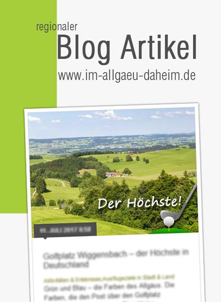 Allgäublog Artikel / Empfehlungspost