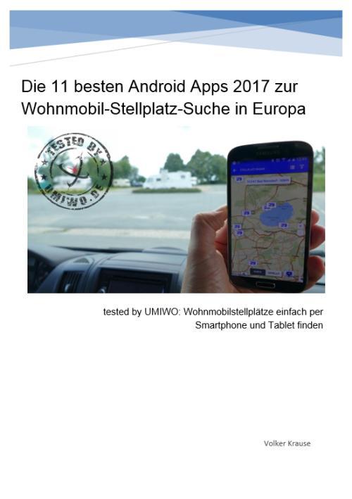 Android App E-Book Smartphone Stellplatz