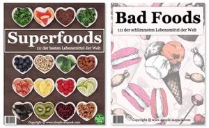 Superfoods und Bad Foods