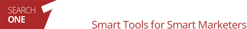 SEARCH ONE Smart Tools for Smart Marketers