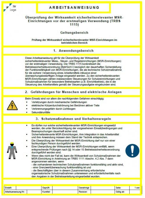 AA: MSR-Einrichtungen