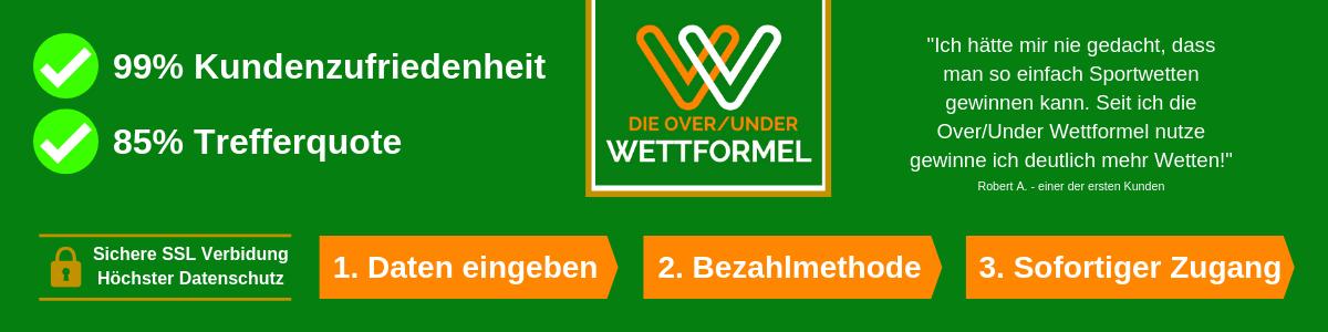 Over Under Wettformel