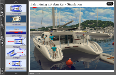 Hafenmanöver Kat - mit Simulator