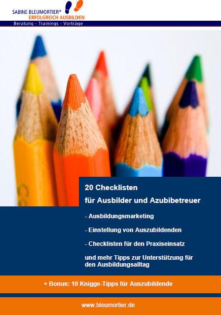 Checklisten Ausbilder Azubibetreuer