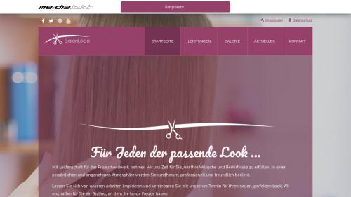 Friseur Website - Raspberry