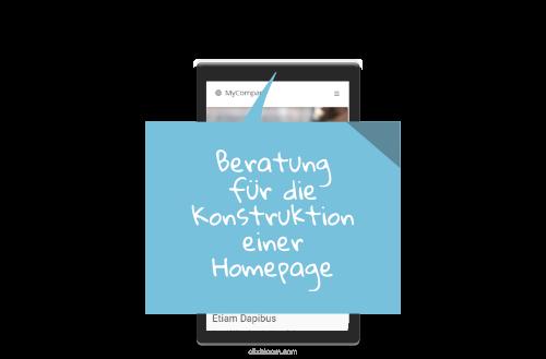 Homepage Beratung Unternehmen