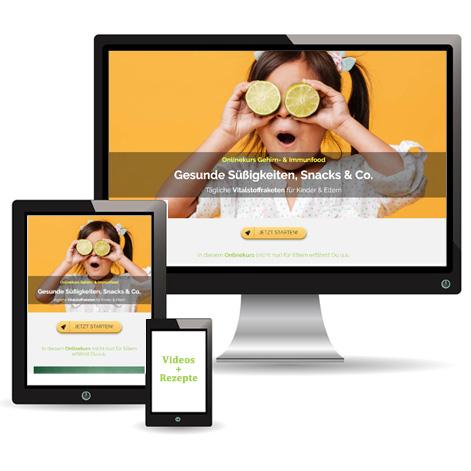 Onlinekurs Gehirn- & Immunfood Gesunde Süßigkeiten, Snacks & Co