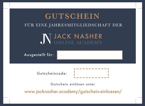 Gutschein Jack Nasher Online Academy