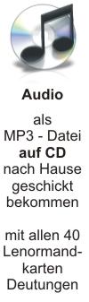 CD mit 40 MP3 Lenormandkarten