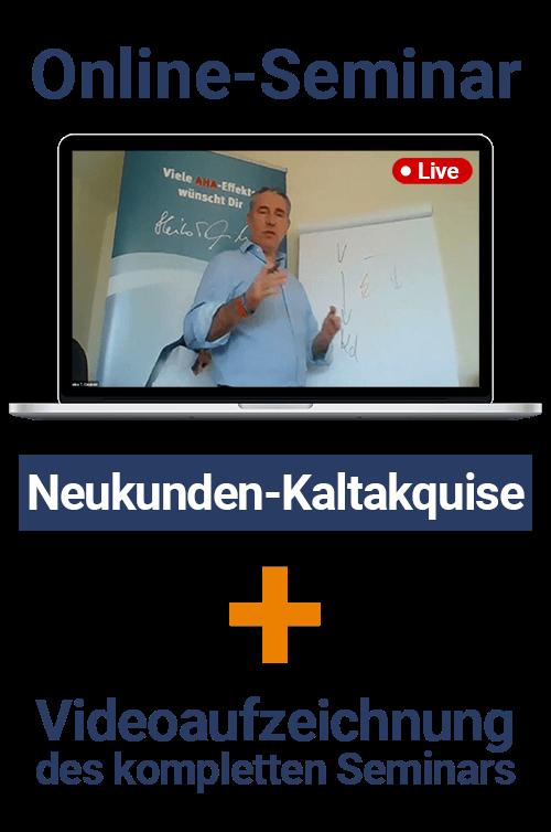 Online-Seminar Neukunden-Kaltakquise