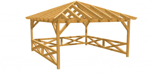 Pavillon-Walmdach 15