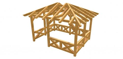 Pavillon-Walmdach 17