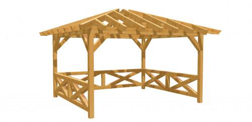 Pavillon-Walmdach 14