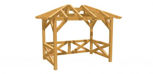 Pavillon-Walmdach 16