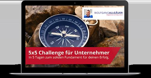 5x5 Challenge für Unternehmer