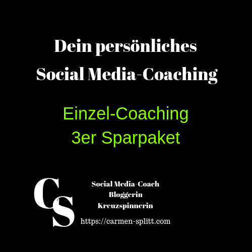 3er Sparpaket Social Media Coaching bei Carmen Splitt Digistore