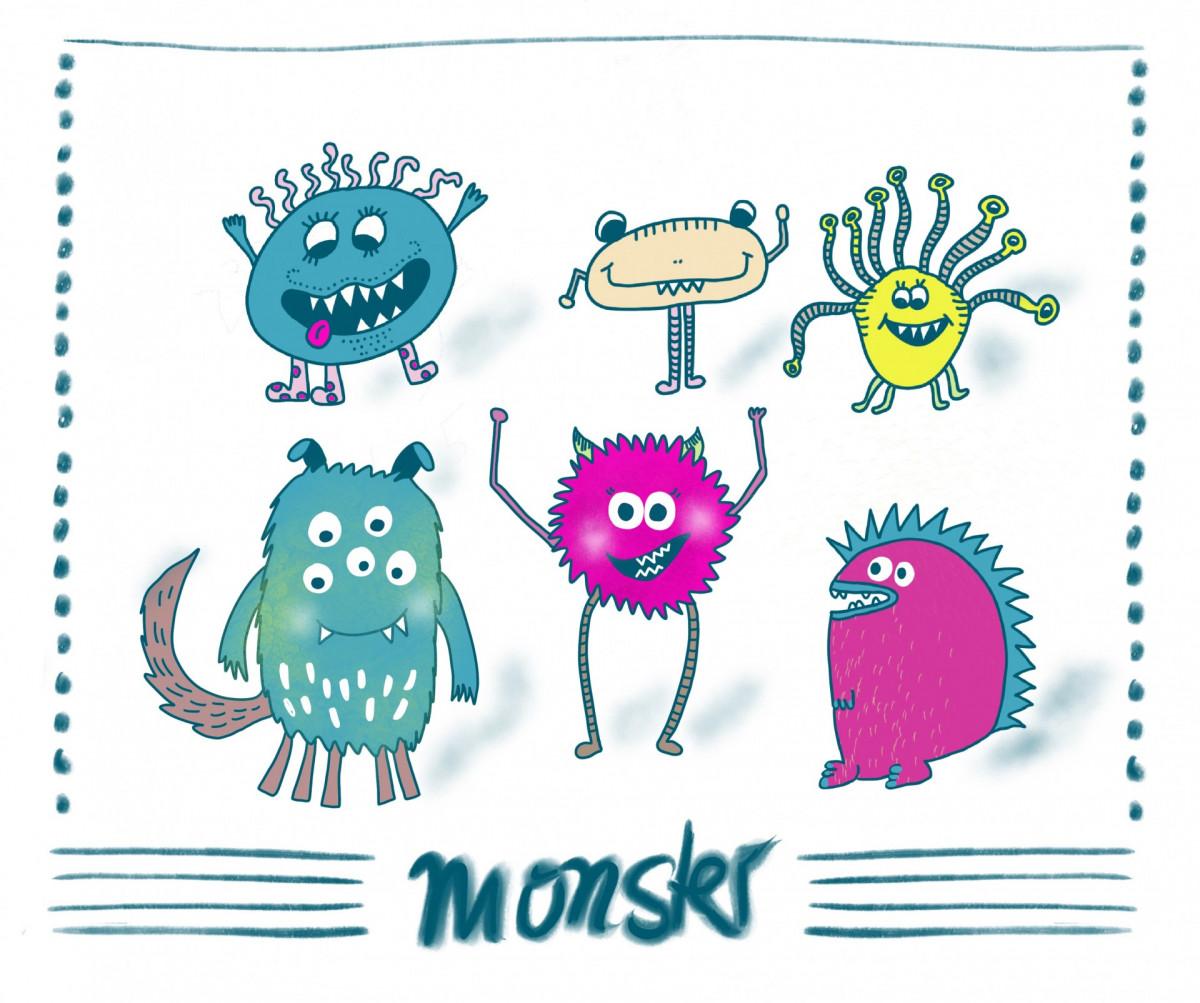 Funny Sketchnotes - Monster