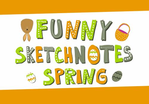 Funny Sketchnotes - Spring